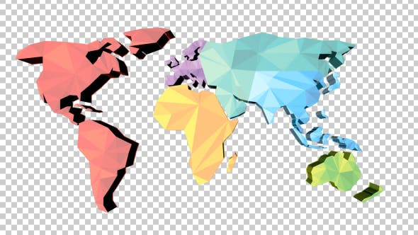 Thumbnail for Low Poly Earth Map