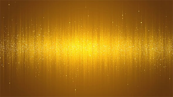 Thumbnail for Golden Glitter Particles Background - 2 Clips