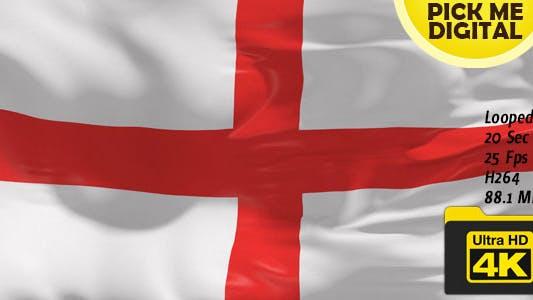Cover Image for UK-England Flag 4K