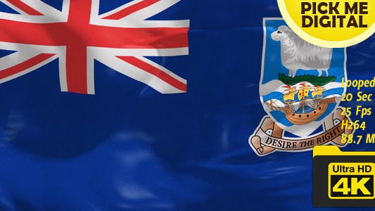Thumbnail for UK-Falkland Islands Flag 4K