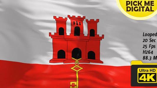 Thumbnail for UK-Gibraltar Flag 4K