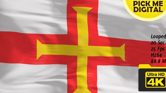 Thumbnail for UK-Guernsey Flag 4K
