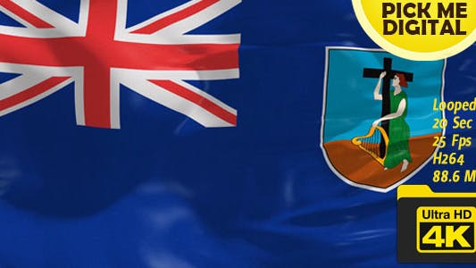 Thumbnail for UK-Montserrat Flag 4K