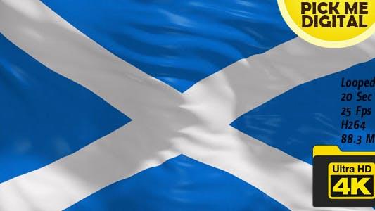 Cover Image for UK-Scotland Flag 4K