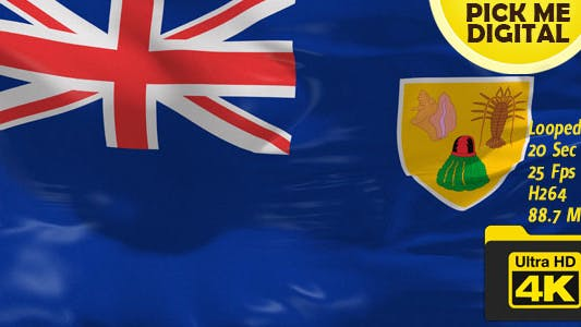 Cover Image for UK-Turks and Caicos Islands Flag 4K