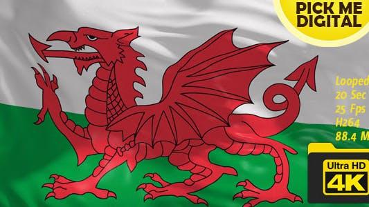 Thumbnail for UK-Wales Flag 4K