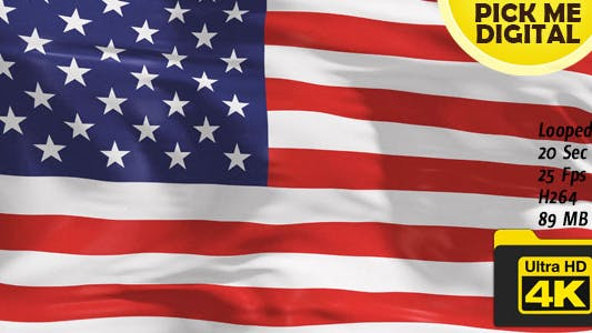 Cover Image for United States of America Flag 4K
