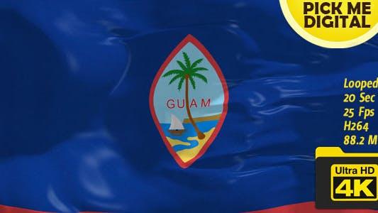Thumbnail for US-Guam Flag 4K