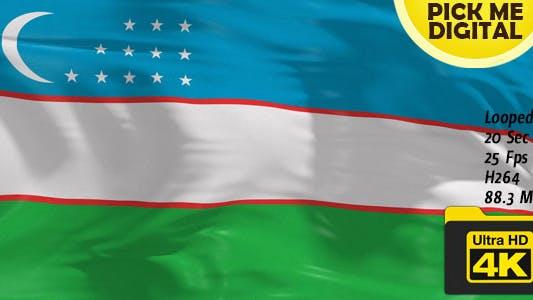 Thumbnail for Uzbekistan Flag 4K