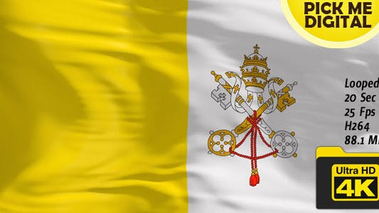 Cover Image for Vatican City Flag 4K