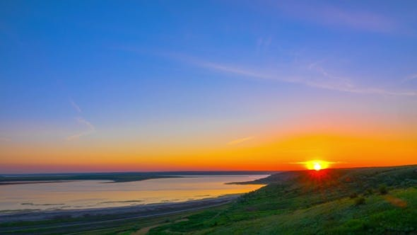 Thumbnail for Sunrise Sky over the River