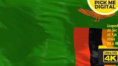 Sambia Flagge 4K