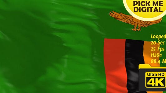 Cover Image for Zambia Flag 4K