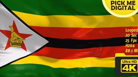 Drapeau Zimbabwe 4K