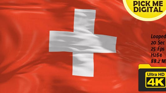 Thumbnail for Switzerland Flag 4K