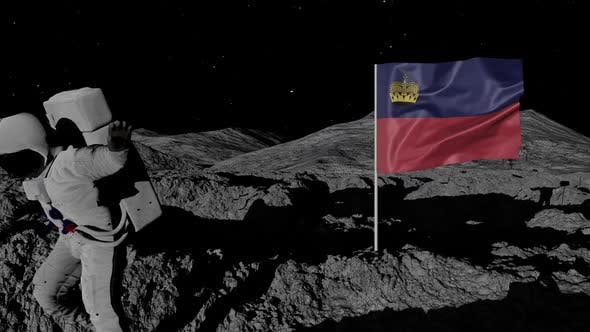 Thumbnail for Astronaut Planting Liechtenstein Flag on the Moon