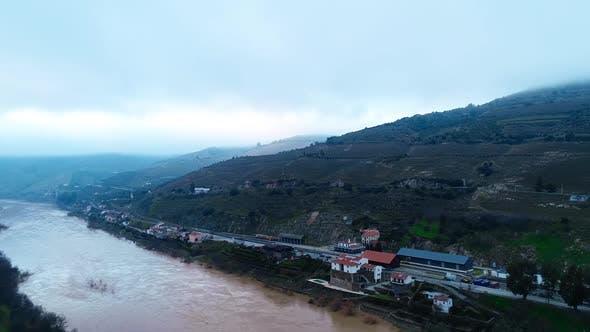 Aerial Douro River