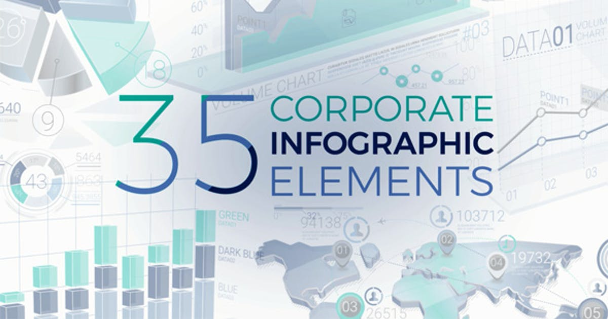Download 35 Corporate Infographic Elements by ConceptCafe