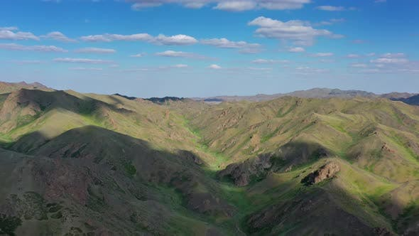 Thumbnail for Aerial View of Mountains Landscape in Mongolia