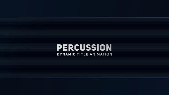 Thumbnail for Percussion - Animation de titre dynamique