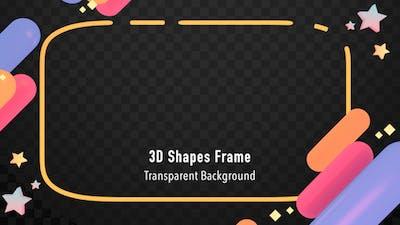 3D Shapes Frame
