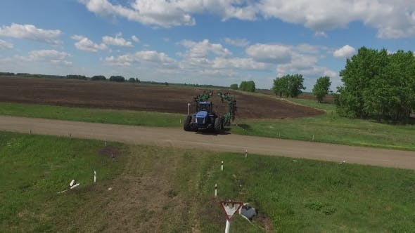 Thumbnail for Tractor Corn Field Road Agriculture Machinery Farming