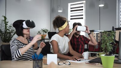 Architects Working in VR Glasses