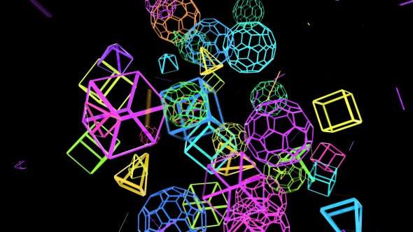 Geometrische Crazy Motion Hintergründe