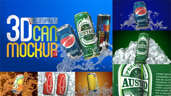 Thumbnail for 3D Aluminium Pop Top Soda Drink Can 2.0