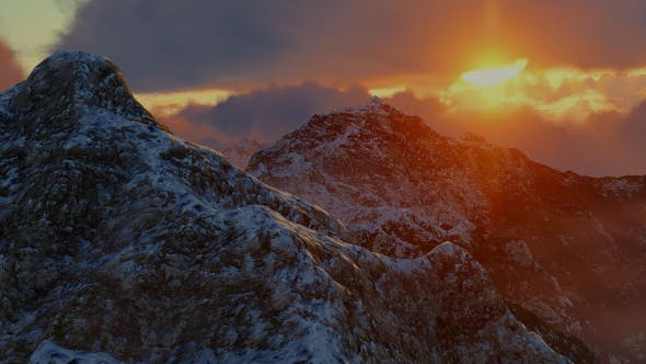 Thumbnail for Abstract Aerial Mountain Landscape at Sunset 12