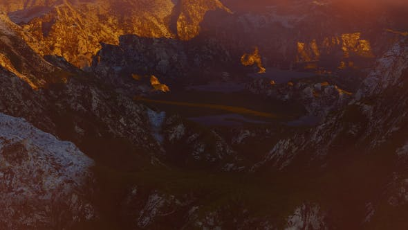 Thumbnail for Abstract Aerial Mountain Landscape at Sunset 13