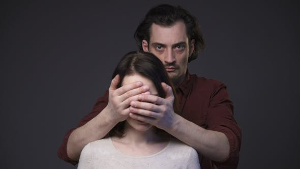 Thumbnail for Man Closing Woman's Face by the Hands
