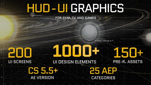 Thumbnail for HUD - UI Gráficos para FILM, TV y GAMES