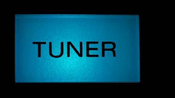 Thumbnail for Tuner Button Blue Color on Black Background of Radio Receiver