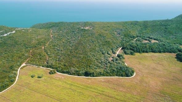 Thumbnail for Aerial View Ocean Coastal Landscape