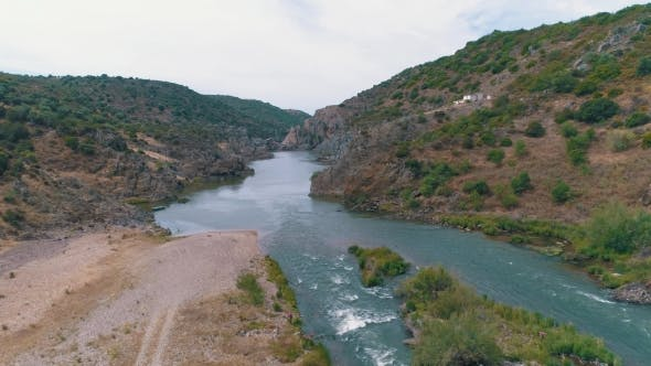Thumbnail for Aerial View of the Mountain River