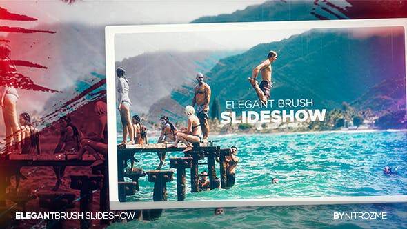 Elegante Pinsel-Slideshow