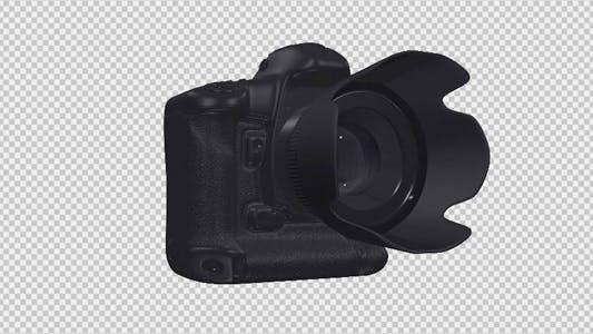 Thumbnail for DSLR Camera - 3D Black - Rotation Loop