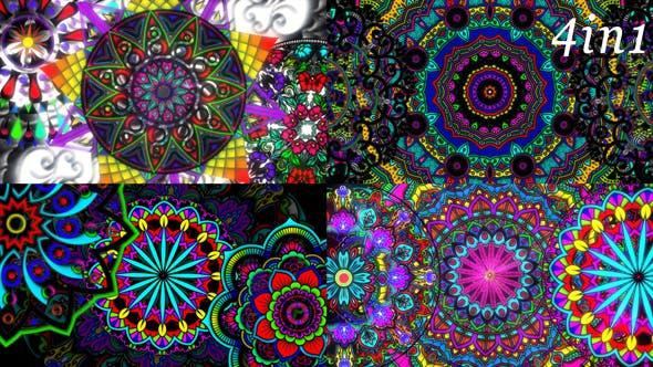 Thumbnail for Ethno Mandala - VJ Loop Pack (4in1)