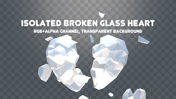Cover Image for Isolated Broken Glass Heart