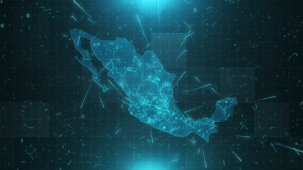 Cover Image for Mexico Map Background Cities Connections 4K