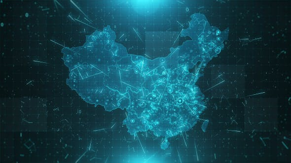 Thumbnail for China Map Background Cities Connections 4K