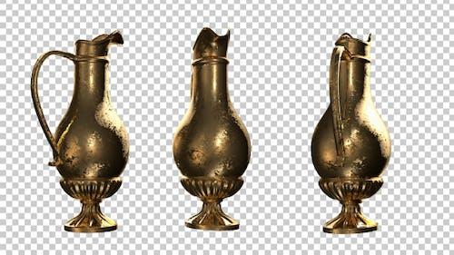 Antique Gold Vase