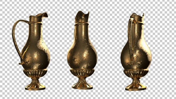 Thumbnail for Antique Gold Vase