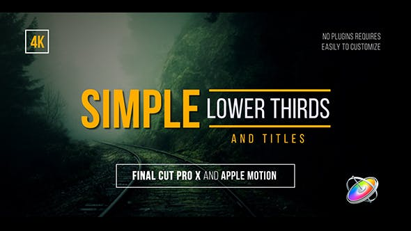 Simple Lower Thirds and Titles FCPX