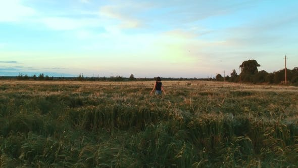 Thumbnail for Girl Walking in the Field