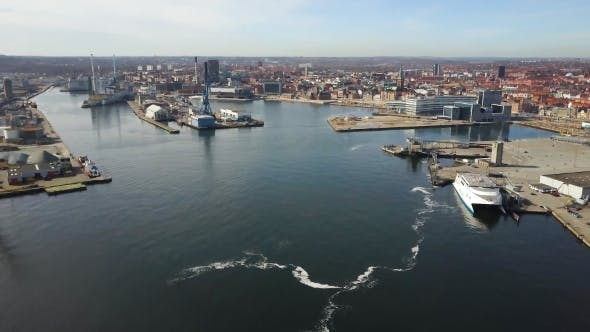 Thumbnail for Aarhus City View From Sea