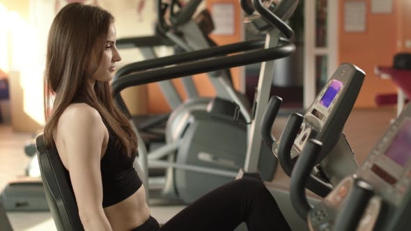 Thumbnail for Athletic Girl Is At A Gym