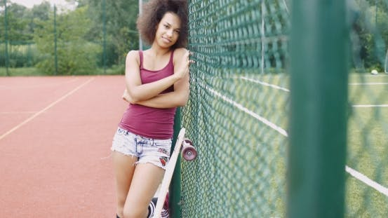 Charming Woman on Sports Ground