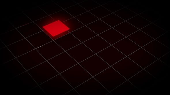 Animation of a Glowing Square in a Grid